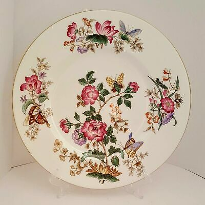 WEDGWOOD CHARNWOOD BONE CHINA DINNER PLATE FLORAL BUTTERFLY ENGLAND Green Mark