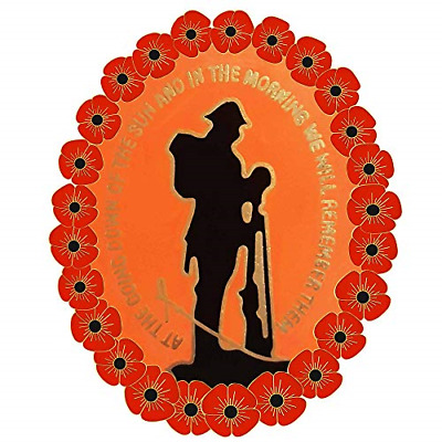 2019 Lone Soldier Remember the Fallen Veteran/'s Remembrance Day Pin Badge Brooch
