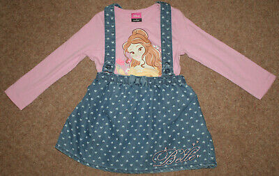 Girl's pinafore dress & top set by Disney @ George. BELLE. Size 2-3 years