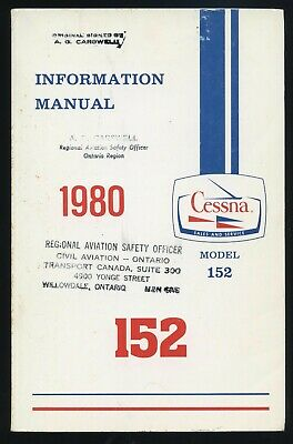 1980 Information Manual Cessna Model 152