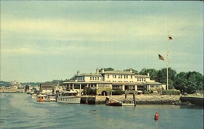 Indian Harbor Yacht Club ~ Greenwich Connecticut ~ 1950-60s vintage postcard