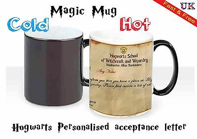 Heat Colour Changing Magic Mug / Cup-Harry Potter Hogwarts Personalised Letter**
