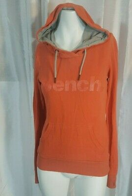 BENCH New Women/'s Long Line Hoodie Shiny Logo Special Thumb Hole Hoody BNWT