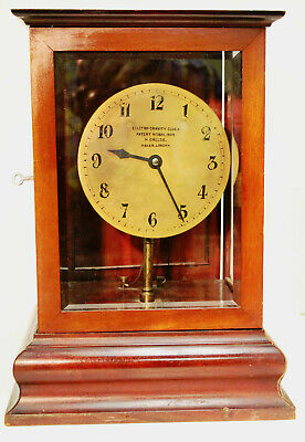 A Rare Patented Electro - Gravity Clock By Henry Creese, London Ca. 1909