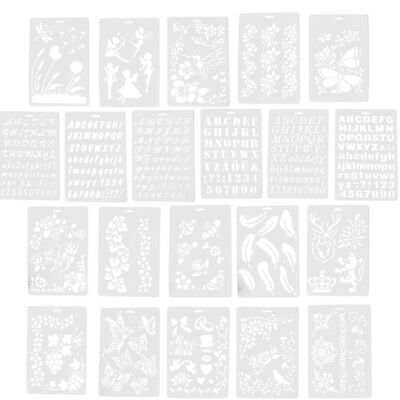Letter Alphabet Number Layering Stencils Painting Scrapbooking PaperCardsCraf Hj