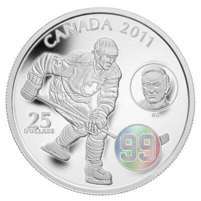 2011-Canada 'Wayne and Walter Gretzky' Proof $25 Silver Coin 1oz .9999 Fine