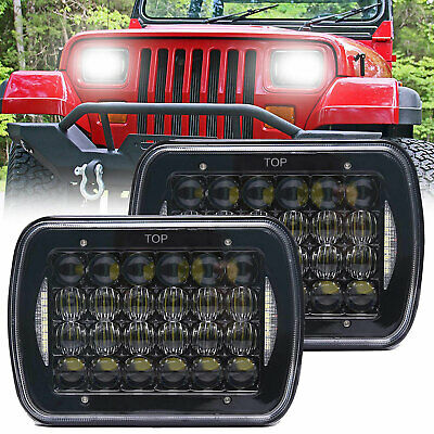 PAIR For HILUX H4 LED UPGRADE HEAD LIGHTS 5X7INCH HEADLIGHTS REPLACEMENTS HI/LO