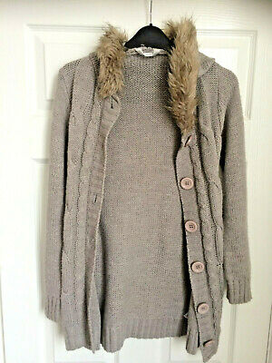 Tammy Brown Woolly Hooded Cardigan Jacket Age 10-11