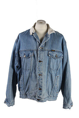 Vintage Arizona Denim Jacket Trucker Fashion Design Riders 90s S Blue - DJ1523