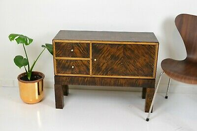 Vintage Kodansu small Japanese chest cabinet 1960s 70s solid timber drawers