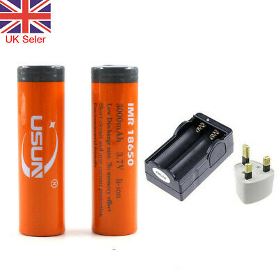 18650 Battery+Charger 3.7V 3000mAh BRC Rechargeable Li-ion Lithium Cells UK