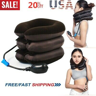 Air Inflatable Pillow Cervical Neck Head Pain Traction Support Brace Device 2019