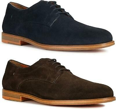 GEOX BAYLE Mens Real Soft High Quality Suede Leather Smart Lace-Up Derby Shoes