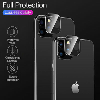 For iPhone 11 Pro Max 11 Full Cover Camera Tempered Glass Lens Screen Protector