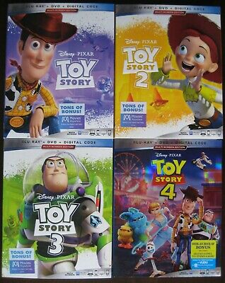 "Toy Story 1 2 3 4 - Complete Set Of 2019 Blu-Ray ""Slipcovers Only"" (No Movies)"