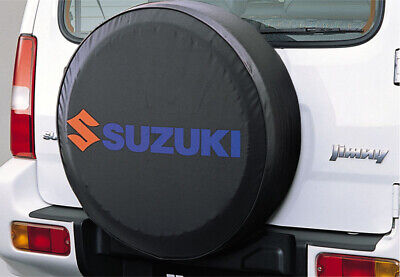 Genuine Suzuki JIMNY Soft Leather Spare Wheel Cover Black BLUE 99000-990YB-700