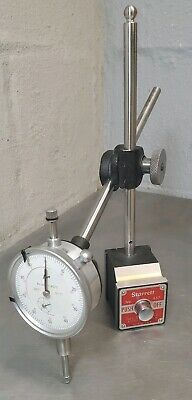 """Starrett No. 657D magnetic base with a Enco 1"""" dial indicator"""
