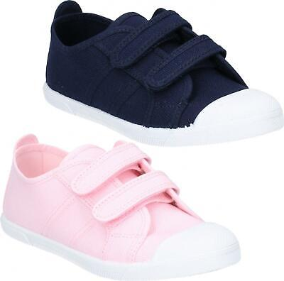 Flossy SASHA Junior Kids Girls Boys Canvas Touch Fasten Trainers Various Colours