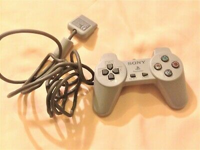 PS1 Sony Playstation Official Grey Controller tested + working