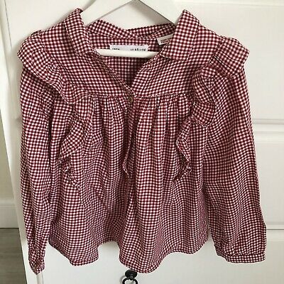 Zara Girls Red & White Top Shirt Blouse Size 4-5 Years Worn Once