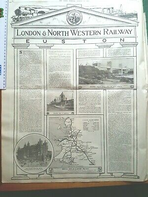 London & North Western Railways 1921 Railways Act Poster