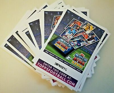 Topps Match Attax Champions League 2018/19 Bundle Of 50 Code Cards