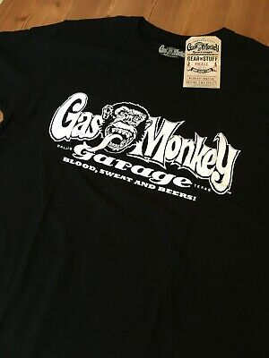 Gas Monkey Garage Mens 100% Cotton T-Shirt Blood Sweat Beers New with Tags
