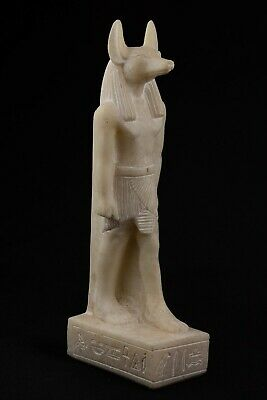 Ancient Egyptian Anubis Statue / God of the Dead Marmar Stone Reproduction 9""