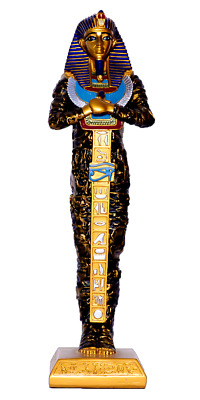Ancient Egyptian King tut sarcophagus coffin Statue / Tut Statue 14.8""