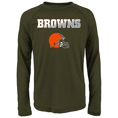 CLEVELAND BROWNS THERMAL KNIT TOP-BOYS SIZE 10//12-LICENSED LONG SLEEVE-NWOT