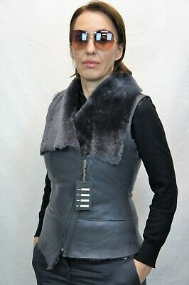 "Ladies /""Gilly/"" Gilet in Pelle Cappotto in montone"
