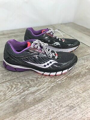 Details about Women's Saucony Ride 6 Running Shoes Sneakers Size 8 Gray Black Purple & Pink