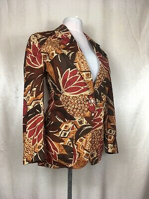 True Vintage 1980's Jaeger Over Jacket Blouse 40 Chest Batique Style Ugly TV CD