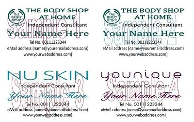 Personalised The Body Shop Nu Skin Younique Consultant BUSINESS CARDS 50