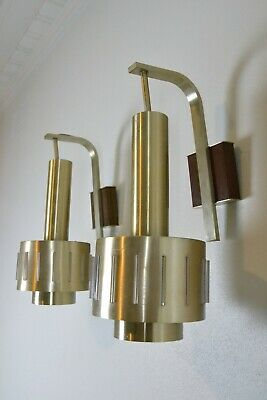 x3Gold anodise Kempthorne K6000 Light wall Sconce Lamp Aussie MCM retro vintage
