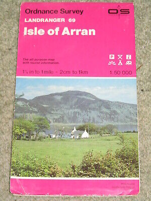 OS Ordnance Survey Landranger Map Sheet 69 Isle of Arran