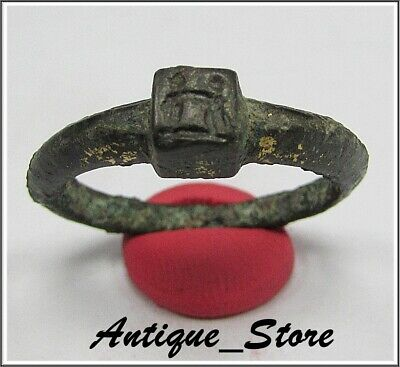 ** IRON AGE- ENGAGEMENT RING ** Ancient Bronze CELTIC Ring **LA TENE ** 500BC**
