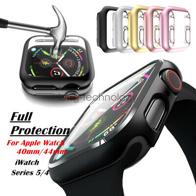 Screen Protector Case Snap On Cover for Apple Watch Series 5 iWatch 40mm/44mm