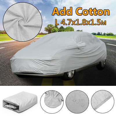 Universal Heavy Duty Size L Full Car Cover Waterproof Breathable UV Protection