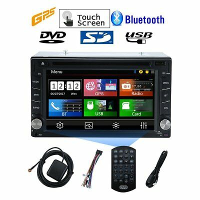 "Double 2 Din 6.2"" HD Car Stereo DVD GPS Radio Player Bluetooth + Touch Screen MA"