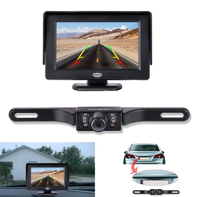 Chuanganzhuo License Plate CMOS Wide Angle Bac... Backup Camera and Monitor Kit