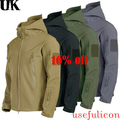 Waterproof Outdoor Mens Outdoor Jacket Tactical Coat Soft Shell Military Jackets
