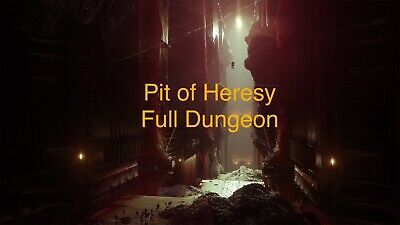 Destiny 2 Shadowkeep Pit Of Heresy Solo Flawless Xbox, PS4, PC