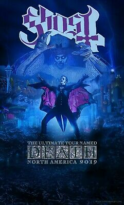 Swedish Metal Superstars Ghost The Ultimate Tour Named Death Poster