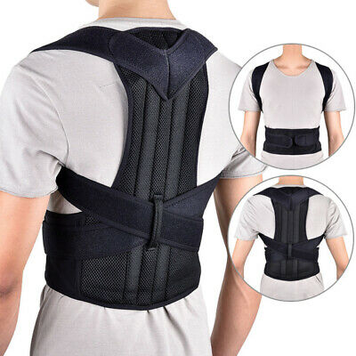 Men Women Adjustable Posture Corrector Support Back Shoulder Brace Belt Strap