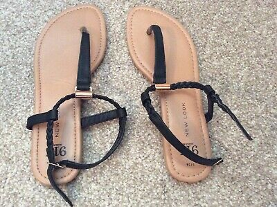 Girls Black Sandals Size 3 From New Look Worn  Once