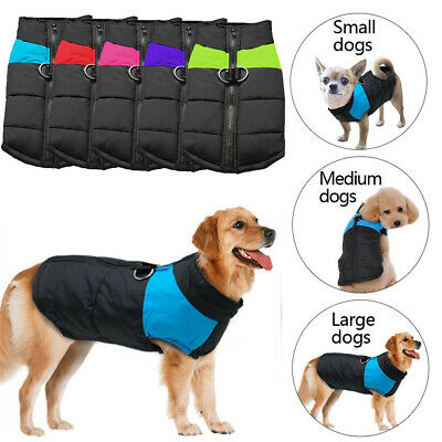 US Comfy Waterproof Dog Clothes Autumn Winter Warm Padded Pet Coats Vest Jackets