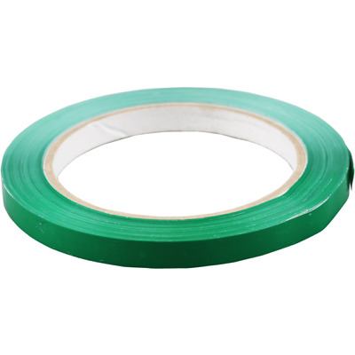 9mm x 66m Strong PVC Tape Catering Seal Bag Food Business Electrical Green