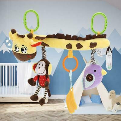 Cute Baby Soft Musical Bed Cot Comfort Toys Hanging Plush Stroller Rattle US New