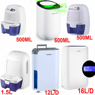 Dehumidifier Air Dryer Moisture Damp Drying Home Bedroom 500ML/600ML/1.5L/1.6L